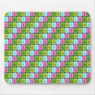 Genius periodic table name mousepad