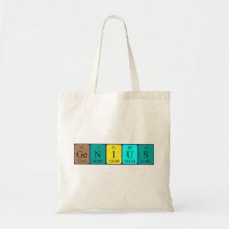 Genius periodic table name tote bag