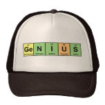 Genius - Periodic Table of Elements Products Hats