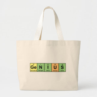 Genius - Periodic Table of Elements Products Large Tote Bag