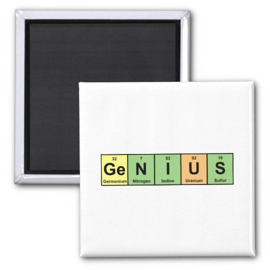 Genius - Periodic Table of Elements Products Magnet