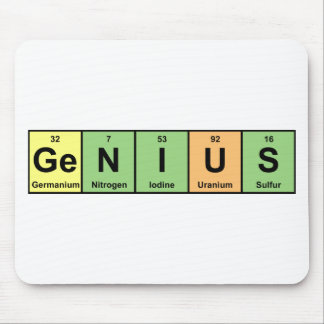 Genius - Periodic Table of Elements Products Mouse Pad
