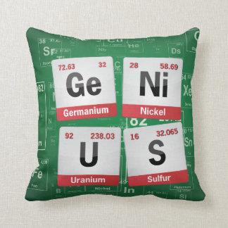 GENIUS | periodic table pillow