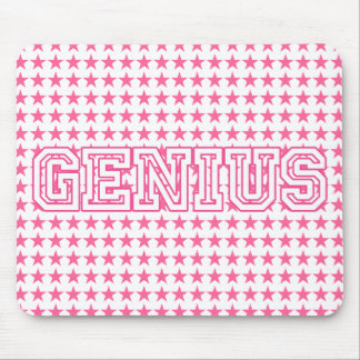 """""""Genius"""" Pink Customized Gifts Mouse Pad"""