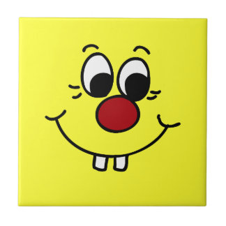 Genius Smiley Face Grumpey Ceramic Tile