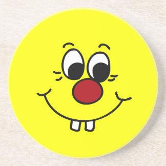 Genius Smiley Face Grumpey Drink Coaster
