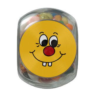 Genius Smiley Face Grumpey Glass Jars