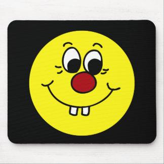 Genius Smiley Face Grumpey Mouse Pad