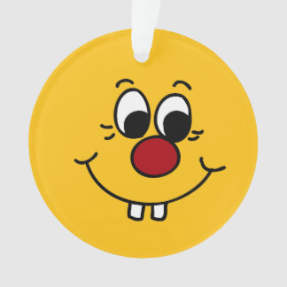 Genius Smiley Face Grumpey Ornament
