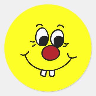 Genius Smiley Face Grumpey Stickers