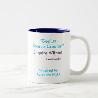 Genius Source-Creator Enquire Within! Two-Tone Coffee Mug