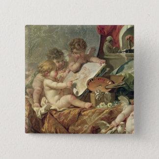 Genius Teaching the Arts, 1761 Pinback Button