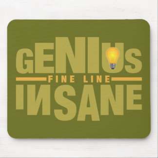 GENIUS VS INSANE custom mousepad