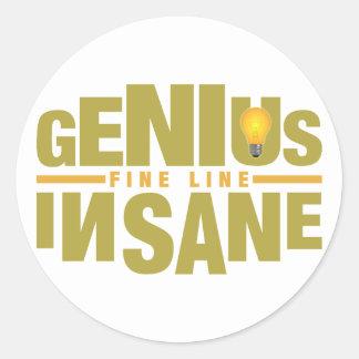 GENIUS VS INSANE custom stickers