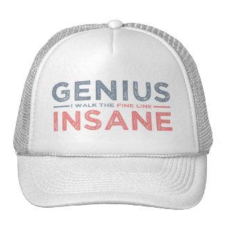 GENIUS VS INSANE hat - choose color