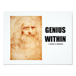 Genius Within (Leonardo da Vinci Self-Portrait) Card