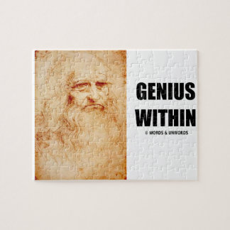 Genius Within (Leonardo da Vinci Self-Portrait) Jigsaw Puzzle