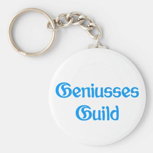 Geniusses Guild Basic Round Button Keychain