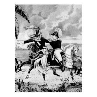 Genl. Taylor at the Battle of Resaca de la Palma_W Postcard