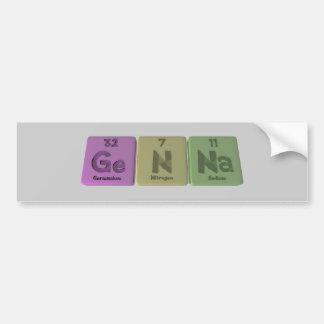 Genna como sodio del nitrógeno del germanio etiqueta de parachoque