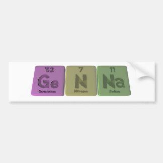 Genna como sodio del nitrógeno del germanio pegatina de parachoque