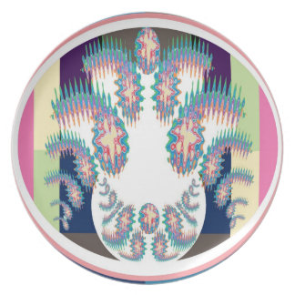 Gennie in a Bottle -  Zodiac Cancer Flare Design Dinner Plate