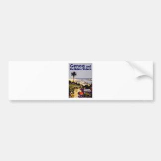 Genoa and the Italian Rivera Bumper Sticker