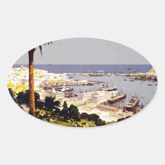 Genoa and the Italian Rivera Oval Sticker