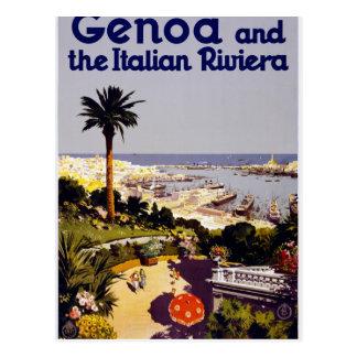 Genoa and the Italian Rivera Postcard