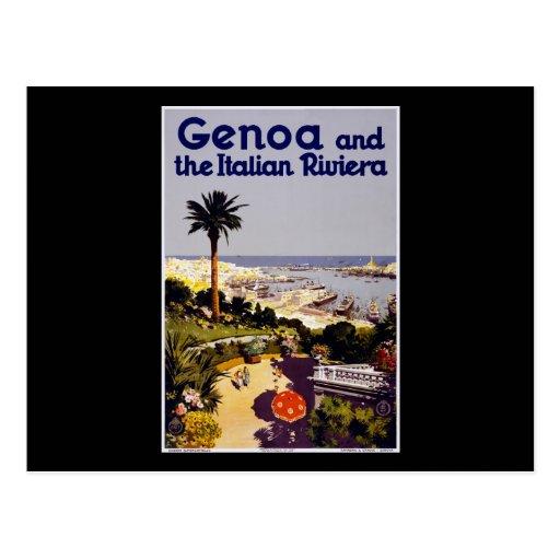 Genoa and the Italian Riviera Postcard