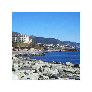 Genoa Coastline Canvas Print