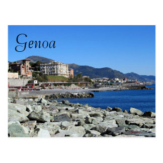 Genoa Coastline Postcard