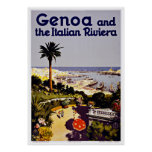 Genoa Italian Riviera - Vintage Travel Posters