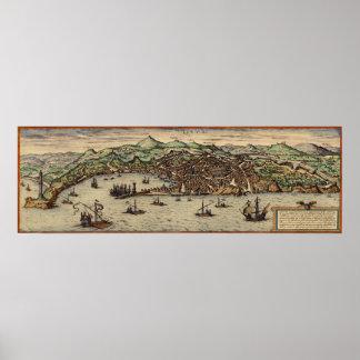 Genoa Italy circa 1560 Poster