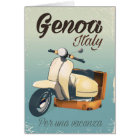 Genoa Italy For a vacation vintage poster Card