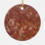 Genoa Salami Texture Christmas Ornaments