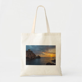 Genoese Tower in Porto Sunset Ota Corsica France Canvas Bags
