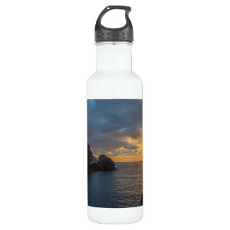 Genoese Tower in Porto Sunset Ota Corsica France Stainless Steel Water Bottle