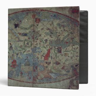 Genoese world map, designed by Toscanelli 3 Ring Binder