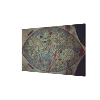 Genoese world map, designed by Toscanelli Canvas Print