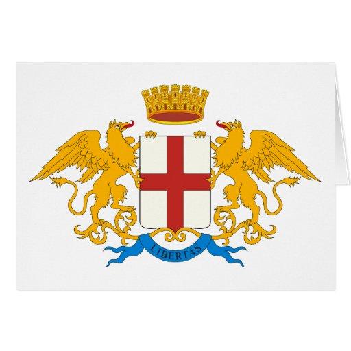 Genova Coat of Arms Greeting Card