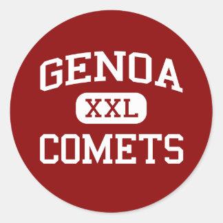 Génova - cometas - escuela de secundaria - Génova Pegatina Redonda