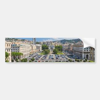 Génova - della Vittoria de la plaza Pegatina De Parachoque