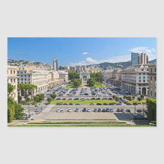 Génova - della Vittoria de la plaza Pegatina Rectangular