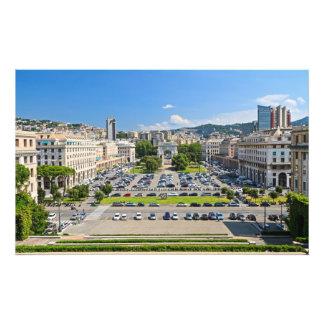 Génova - della Vittoria de la plaza Impresiones Fotograficas