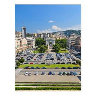 Génova - della Vittoria de la plaza Tarjeta Postal