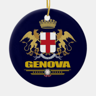Genova (Genoa) Double-Sided Ceramic Round Christmas Ornament