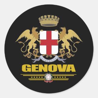 Génova (Génova) Pegatina Redonda