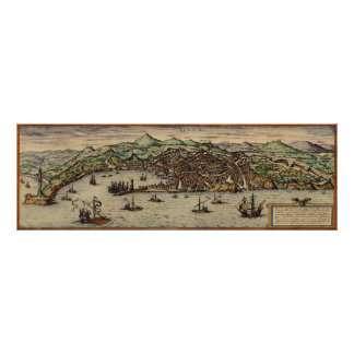 Génova Italia circa el poster 1560