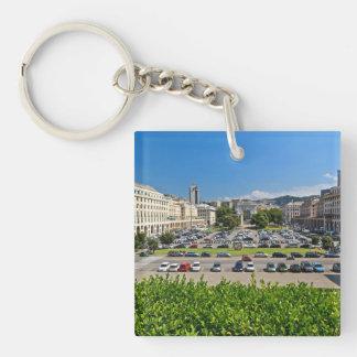 Genova - Piazza Della Vittoria Keychain